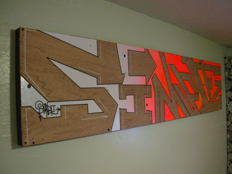 Graffiti art on wood - Graffiti Art On Wood 1